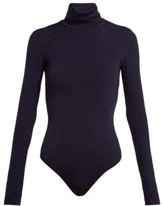 Wolford Colorado String Body - Womens - Dark Blue