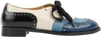 John Galliano Blue Leather Flats