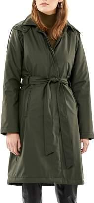 Rains Waterproof Trench Coat with Detectable Hood
