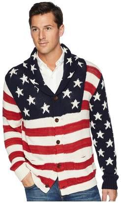 Polo Ralph Lauren American Flag Shawl Cardigan Men's Sweater