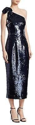 Safiyaa Women's One-Shoulder Sequin Cocktail Dress