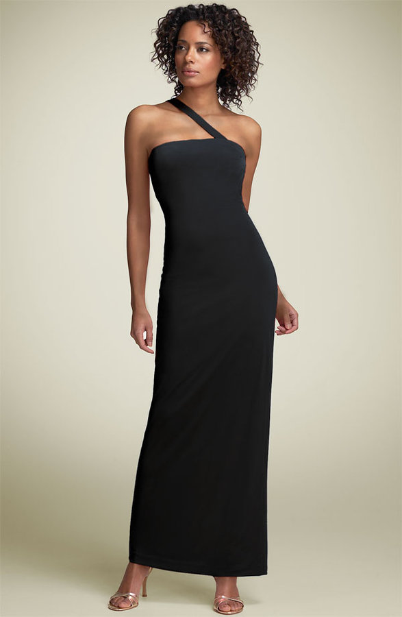 Mary L Couture One Shoulder Jersey Gown
