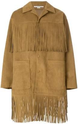 Stella McCartney fringed buttoned coat