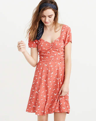 Abercrombie & Fitch Cinched-Front Dress