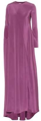 Silk-crêpe gown