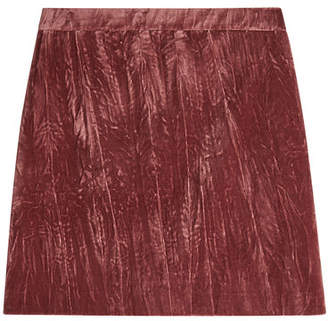 Nina Ricci Cotton Velvet Mini Skirt