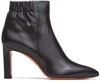 Santoni Soft Nappa Black Ankle Boots
