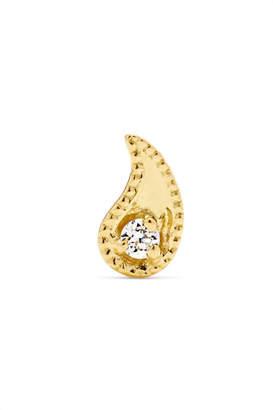 Maria Tash Paisley 14-karat Gold Diamond Earring