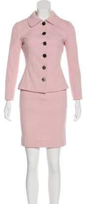 Dolce & Gabbana Textured Knee-Length Skirt Suit