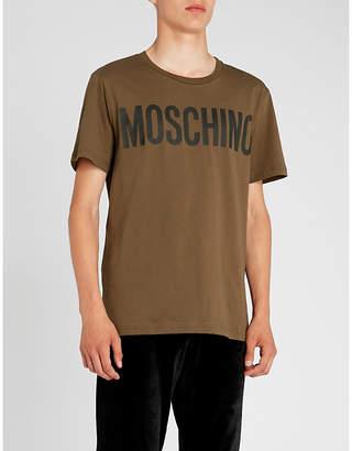 Moschino Logo-print cotton-jersey T-shirt