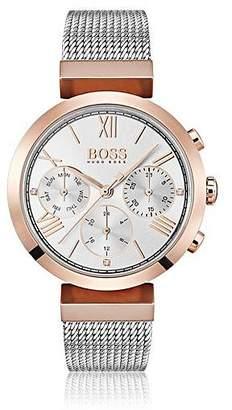 HUGO BOSS Multi-eye watch in carnation-gold