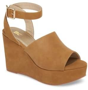 BC Footwear Admit One Platform Wedge Sandal