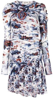 Diane von Furstenberg floral print ruched dress
