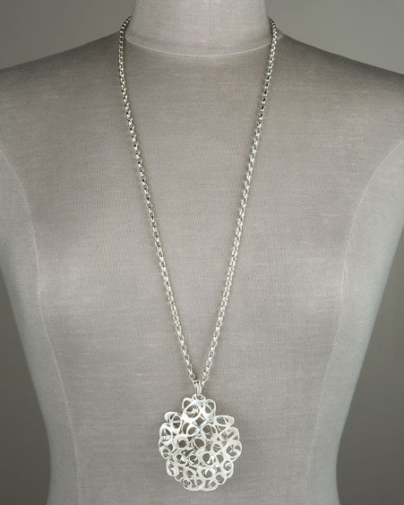 Robert Lee Morris Lace Disc Pendant Necklace