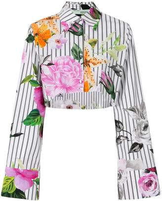 Off-White cropped floral printed blouse