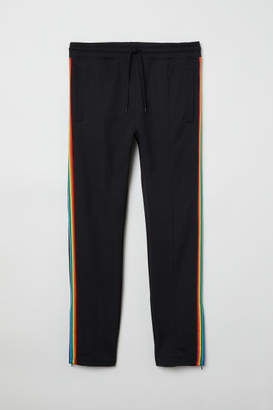H&M Joggers with Side Stripes - Black