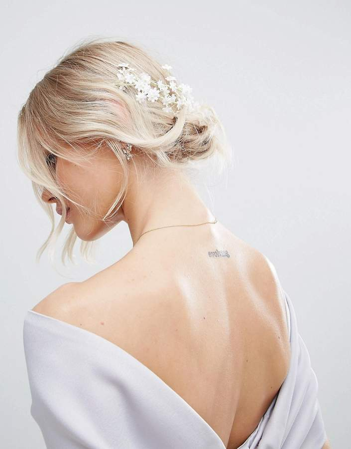 ASOS BRIDAL Mini Flower Back Hair Garland