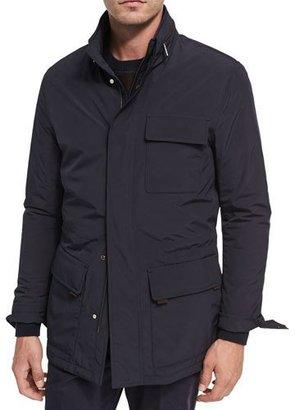 Ermenegildo Zegna Mid-Length Field Jacket with Removable Hood $2,495 thestylecure.com