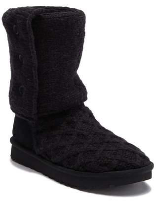 UGG Lattice Cardy Wool Knit Boot
