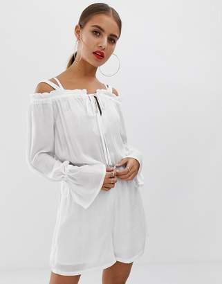 Noisy May off shoulder playsuit