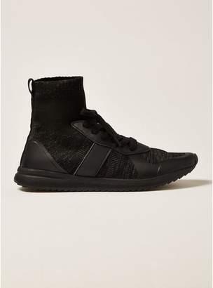 Topman Mens Black Knit Viper Lace Boots