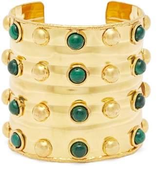 Sylvia Toledano - Massai Dots Malachite Stone Cuff - Womens - Green