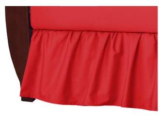 Tl Care Inc TL Care Cotton Percale Crib Bed Skirt, Red