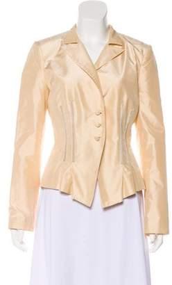 Bill Blass Silk Structured Blazer