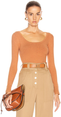 JoosTricot Scoop Neck Sweater in Cinnamon | FWRD