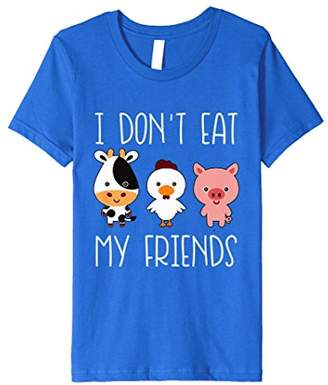 I Don't Eat My Friends Funny Vegan Vegetarian T Shirt