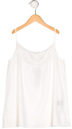 Little Marc Jacobs Little Marc Jacobs Girls' Lace-Trimmed Sleeveless Top