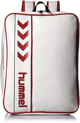Hummel (ヒュンメル) - [ヒュンメル]リュックサック エナメルバックパック ホワイト×レッド