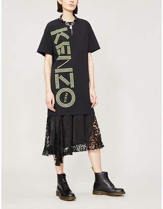 Kenzo Logo-print cotton-jersey dress