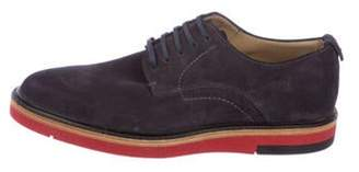 Fendi Suede Derby Shoes navy Suede Derby Shoes