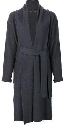 Denis Colomb waist tie wrap coat