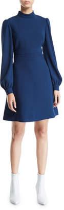 Jill Stuart Pearl-Cuff Fit-&-Flare Cocktail Dress