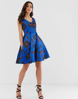 Closet London Closet v neck full skirt dress