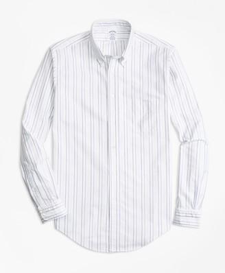 Brooks Brothers Regent Fit Oxford Multi-Stripe Sport Shirt