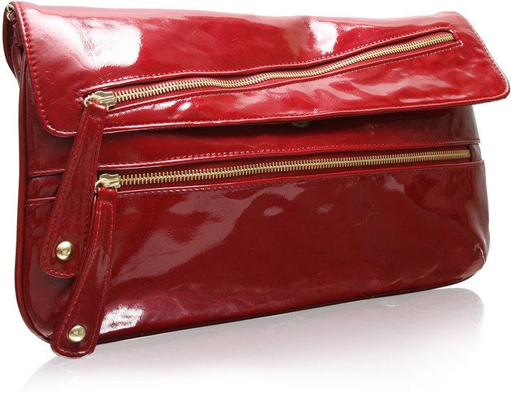 ASOS Oversized Double Zip Clutch