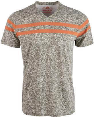 American Rag Men's V-Neck Striped T-Shirt