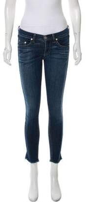 Rag & Bone Mid-Rise Cropped Jeans