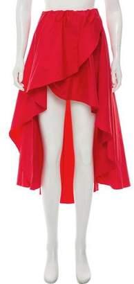 Caroline Constas Ruffle High-Low Skirt