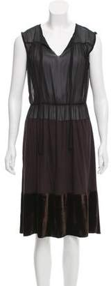 Tomas Maier Semi-Sheer Midi Dress