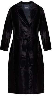 Max Mara S Ocroma Cotton Blend Coat - Womens - Navy