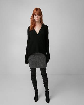 Express Deep V-Neck Surplice Tunic Sweater