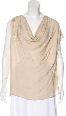 Haute Hippie Embellished Silk Top w/ Tags