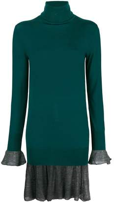 Sacai turtleneck sweater dress