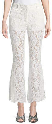 Proenza Schouler Cropped Flared Lace Pants
