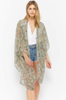 Forever 21 Floral Chiffon Kimono