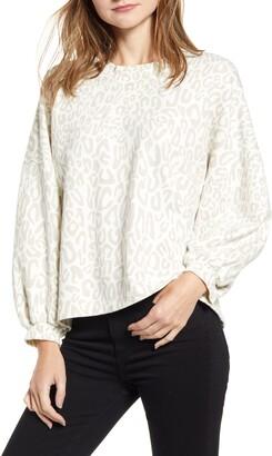 Rebecca Minkoff Rosie Leopard Pattern Cotton Blend Top